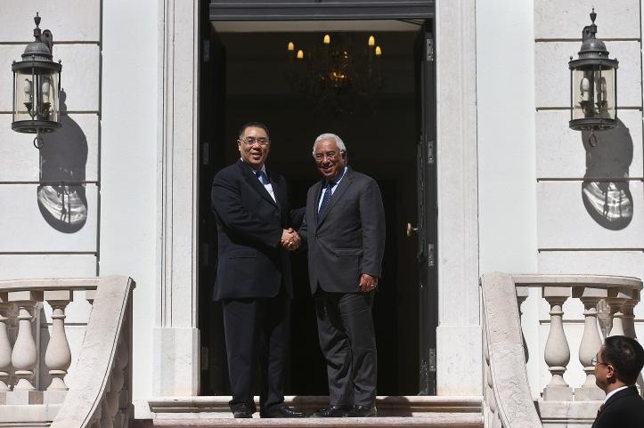 Chefe do Executivo de Macau, Fernando Chui Sai On, visita Portugal