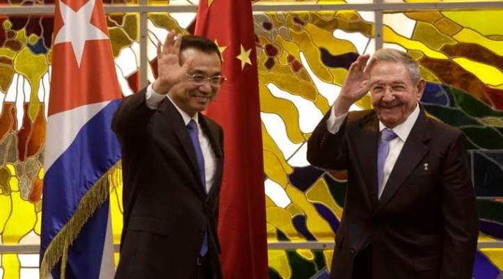 Li Keqiang, Raul Castro