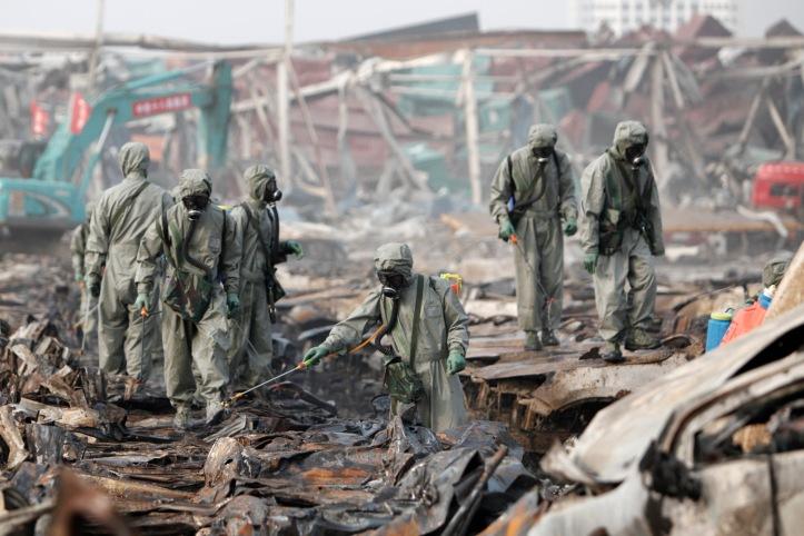 Rescuers Clear Blast Area In Tianjin