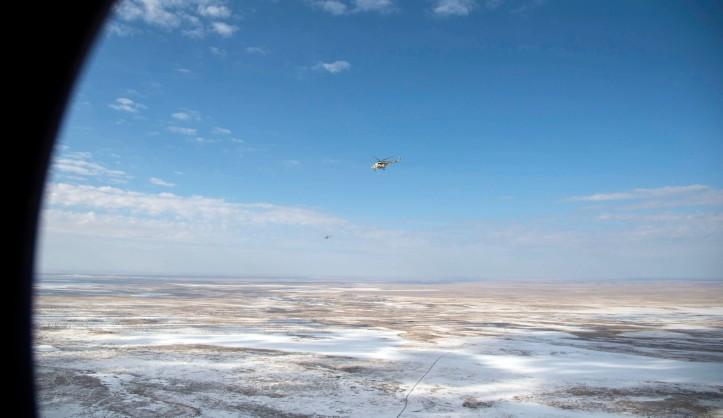 Expedition 49 Landing Preparation in Zhezkazgan