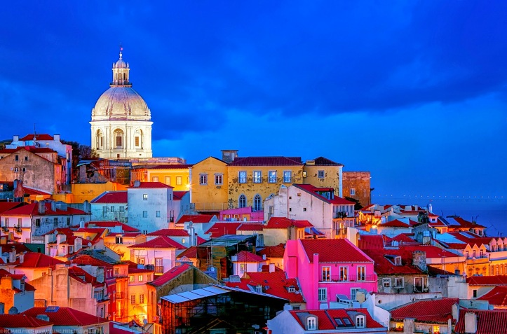 Blue Hour, Lisbon Skyline, National Pantheon, Vasco da Gama Brid
