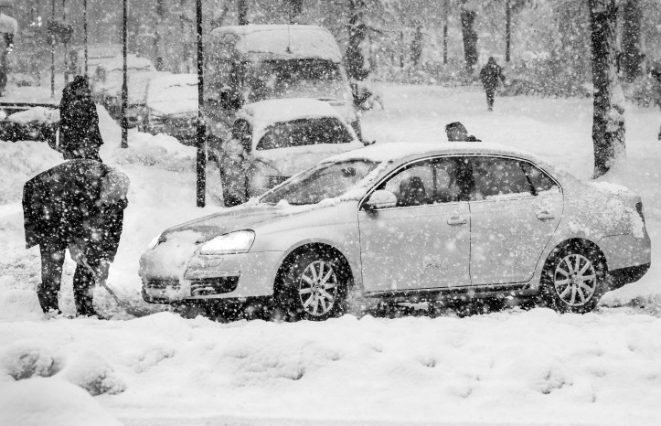 Traffic in the Stockholm hampered by heavy snowfall