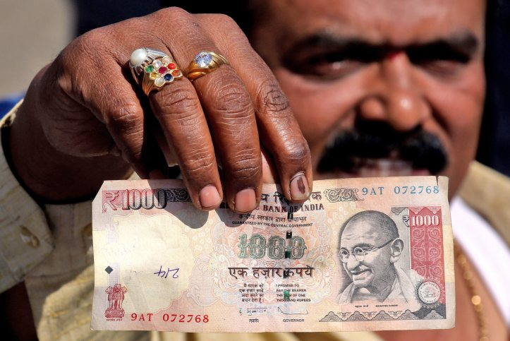 Indians at protest rally in support of what they call 'Jan Aakrosh Diwas' against the demonetisation