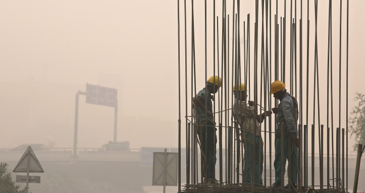 Diwali aftermath, levels of pollution increased in New Delhi.