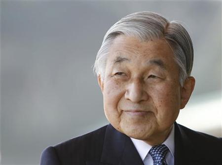 Japan's Emperor Akihito sends off Pakistan's President Asif Ali Zardari at the Imperial Palace in Tokyo
