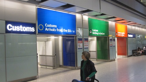 Customs channels - London Heathrow Airport car hire