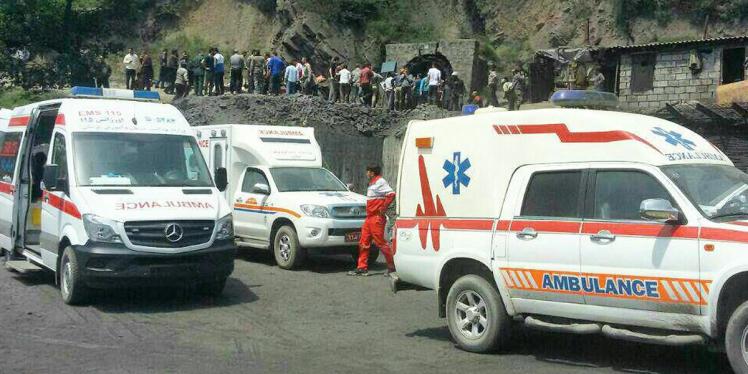 Resgatados 21 corpos de mineiros após acidente no Irã