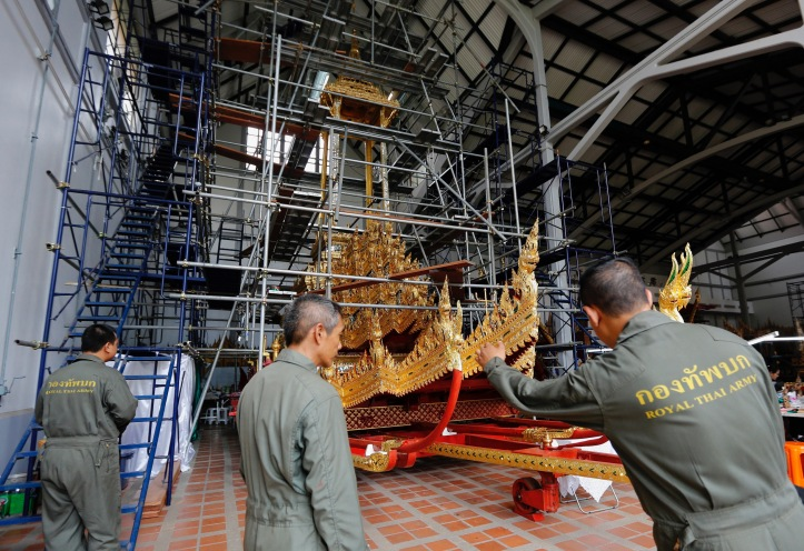 Preparations for the royal cremation of the late Thai King Bhumibol Adulyadej