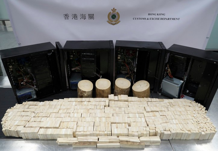 Ivory seized at Hong Kong International Airport