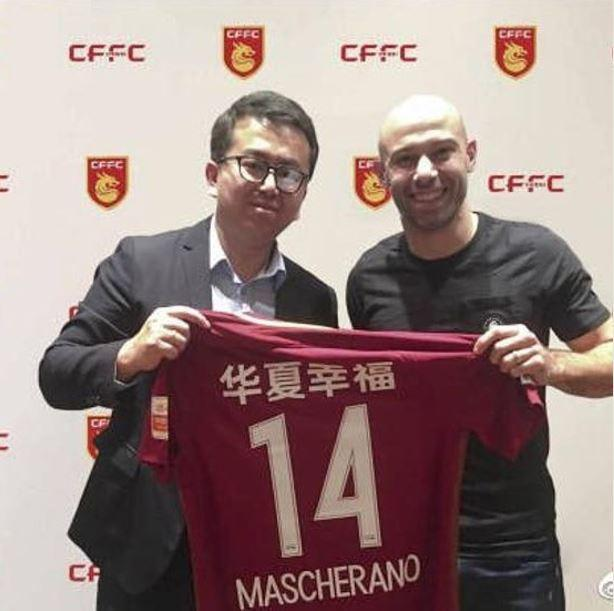 Mascherano apresentado nos chineses do Hebei Fortune