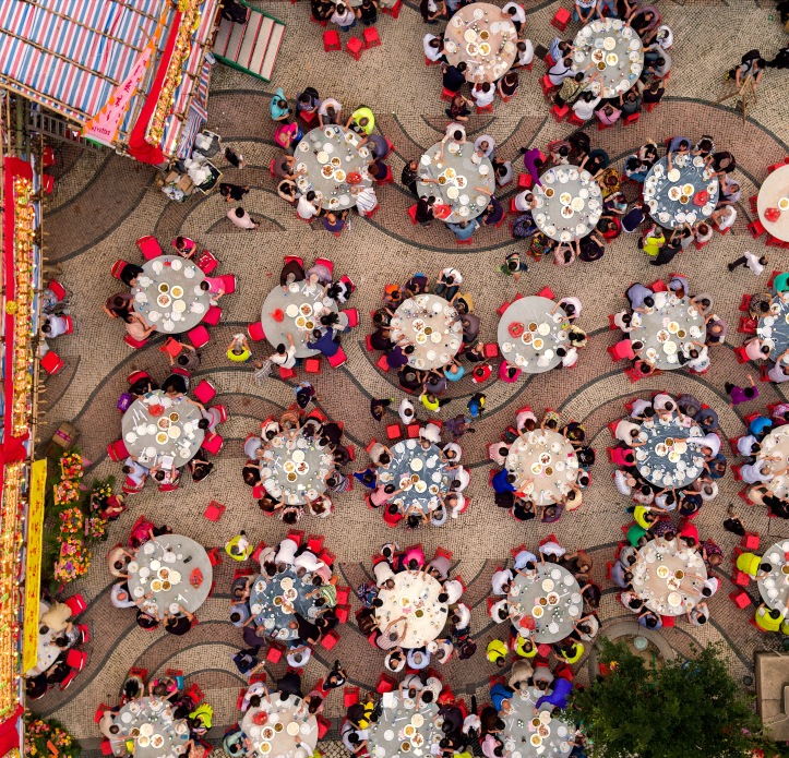 A grand feast at Barra Square for the festival of Tin Hau, goddess of the sea.JPG